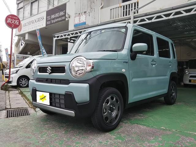 沖縄の中古車 スズキ ハスラー 車両価格 ASK リ済込 新車  オフブルー