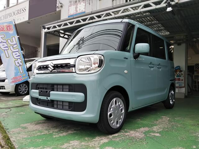沖縄の中古車 スズキ スペーシア 車両価格 153万円 リ済込 新車  オフブルー