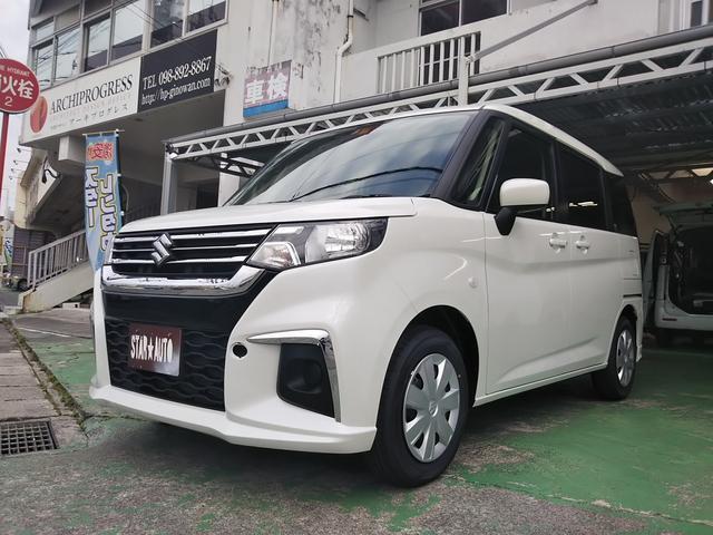 沖縄の中古車 スズキ ソリオ 車両価格 160万円 リ済込 2021(令和3)年 8km パールホワイト