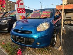 沖縄の中古車 日産 マーチ 車両価格 45万円 リ済込 平成23年 7.9万K ブルーM