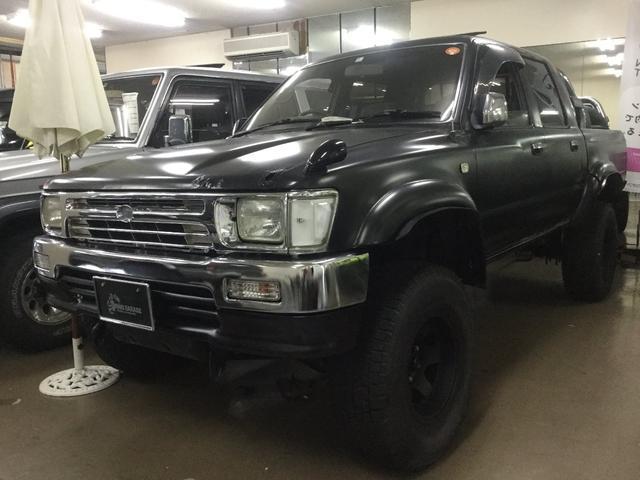 沖縄県中頭郡北谷町の中古車ならハイラックスピックアップ ダブルキャブ SSR-X ワイド マットブラック塗装