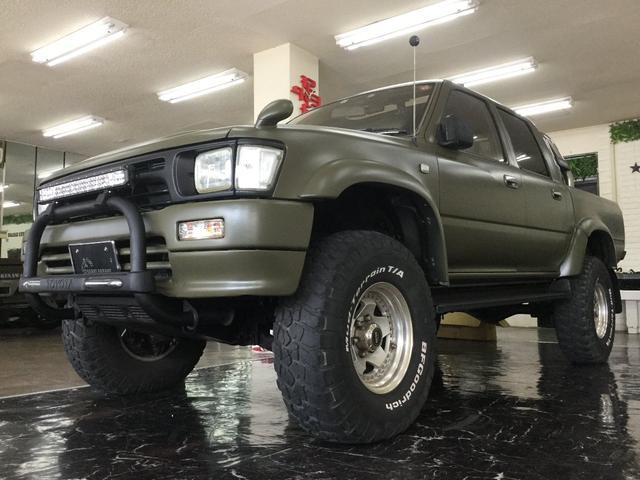 沖縄の中古車 トヨタ ハイラックスピックアップ 車両価格 129万円 リ済込 1995(平成7)年 20.0万km Dグリーン