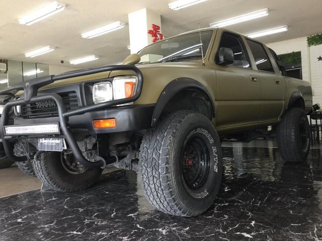 沖縄の中古車 トヨタ ハイラックスピックアップ 車両価格 149万円 リ済込 1993(平成5)年 21.0万km マットDグリーン