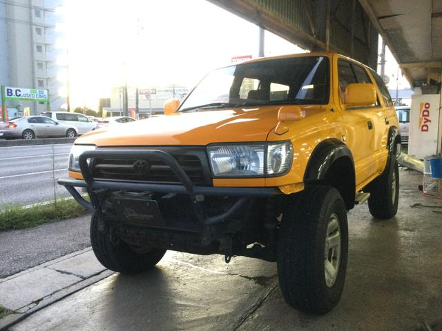 沖縄の中古車 トヨタ ハイラックスサーフ 車両価格 149万円 リ済込 1997(平成9)年 18.5万km イエロー