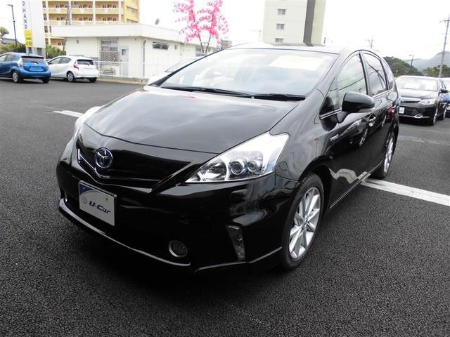 沖縄の中古車 トヨタ プリウスアルファ 車両価格 164.2万円 リ済別 2012(平成24)年 6.2万km ブラック