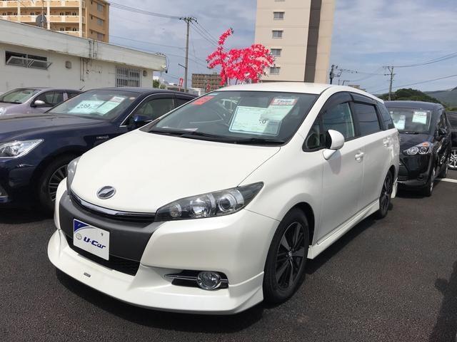 沖縄の中古車 トヨタ ウィッシュ 車両価格 129万円 リ済別 2013(平成25)年 5.4万km パールホワイト