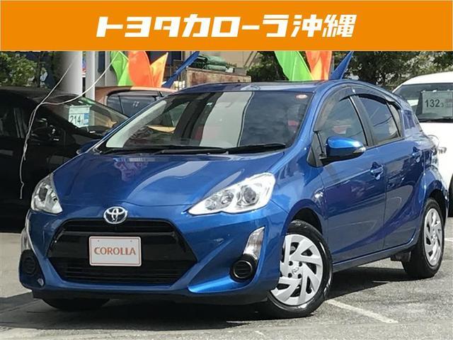 沖縄の中古車 トヨタ アクア 車両価格 129万円 リ済別 2016(平成28)年 5.6万km ブルーM