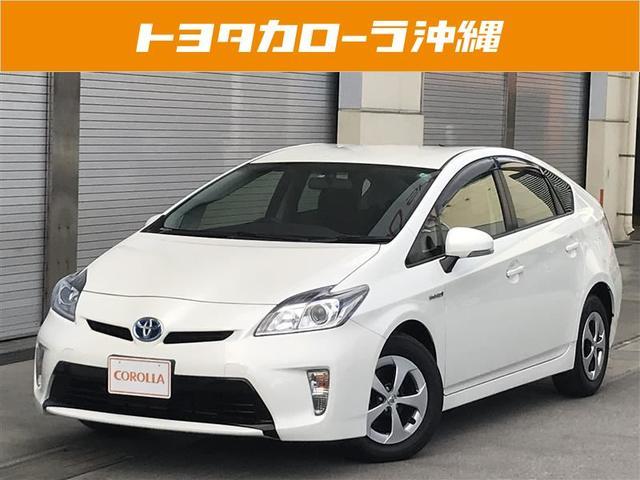 沖縄の中古車 トヨタ プリウス 車両価格 162万円 リ済別 平成26年 4.9万km パールホワイト