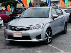 沖縄の中古車 トヨタ カローラアクシオ 車両価格 103万円 リ済別 平成26年 8.2万K シルバー