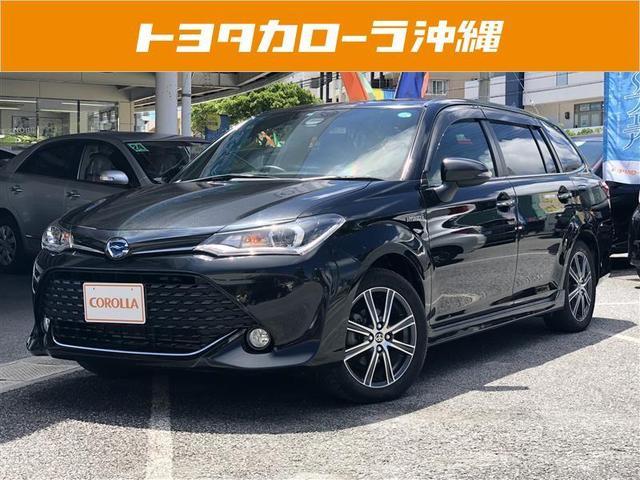 沖縄の中古車 トヨタ カローラフィールダー 車両価格 173万円 リ済別 平成27年 4.9万km ブラック