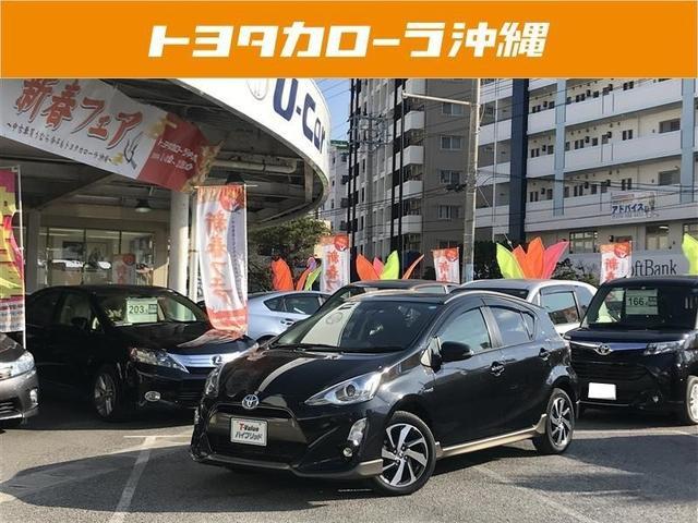 沖縄の中古車 トヨタ アクア 車両価格 172万円 リ済別 平成28年 2.4万km ブラック