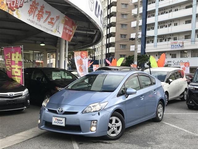 沖縄の中古車 トヨタ プリウス 車両価格 103.9万円 リ済別 2011(平成23)年 3.1万km ブルー