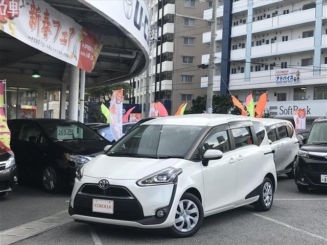 沖縄の中古車 トヨタ シエンタ 車両価格 192万円 リ済別 平成29年 1.1万km パールマイカ
