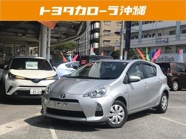 沖縄の中古車 トヨタ アクア 車両価格 92万円 リ済別 2013(平成25)年 3.5万km シルバー