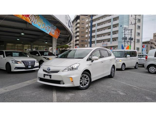沖縄の中古車 トヨタ プリウスアルファ 車両価格 158万円 リ済別 2014(平成26)年 4.6万km パールマイカ