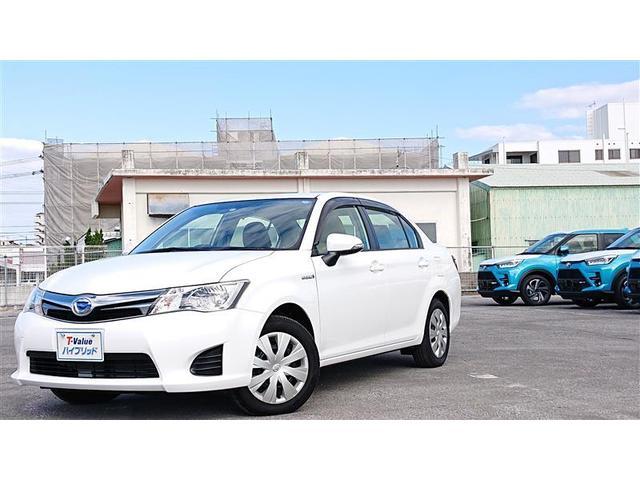 沖縄の中古車 トヨタ カローラアクシオ 車両価格 75万円 リ済別 2014(平成26)年 5.6万km ホワイト