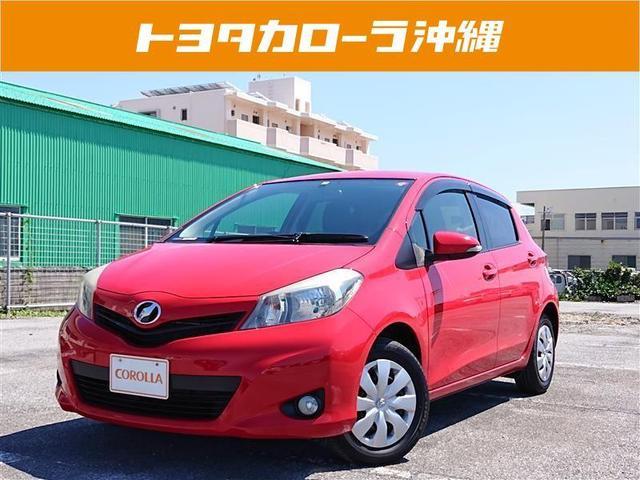 沖縄の中古車 トヨタ ヴィッツ 車両価格 64万円 リ済別 2013(平成25)年 4.6万km アカ