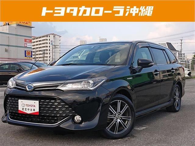 沖縄の中古車 トヨタ カローラフィールダー 車両価格 128万円 リ済別 2016(平成28)年 8.2万km クロ
