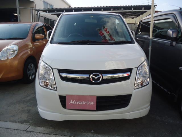 沖縄の中古車 マツダ AZワゴン 車両価格 26万円 リ済込 平成23年 13.3万km パールホワイト