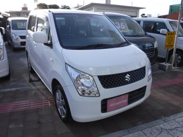 沖縄の中古車 スズキ ワゴンR 車両価格 22万円 リ済込 平成24年 16.6万km ホワイト