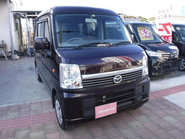 沖縄の中古車 マツダ スクラムワゴン 車両価格 49万円 リ済込 平成24年 13.9万km ダークパープル