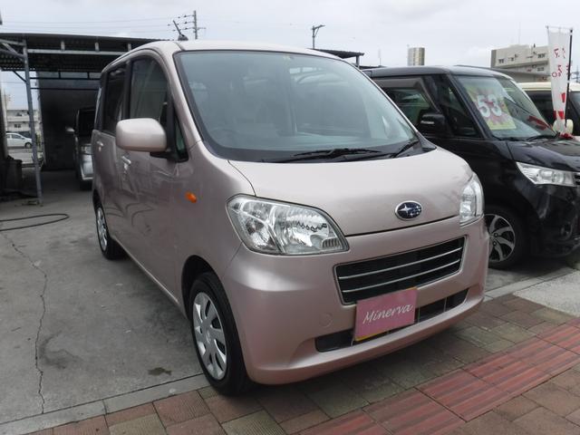 沖縄の中古車 スバル ルクラ 車両価格 33万円 リ済込 平成24年 12.8万km ピンク