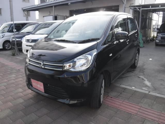 沖縄の中古車 三菱 eKワゴン 車両価格 34万円 リ済込 2014(平成26)年 13.8万km ブラック