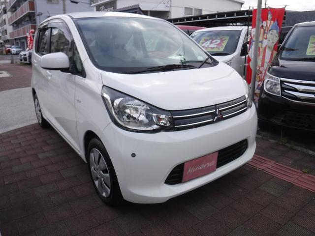 沖縄の中古車 三菱 eKワゴン 車両価格 33万円 リ済込 2015(平成27)年 13.1万km ホワイト