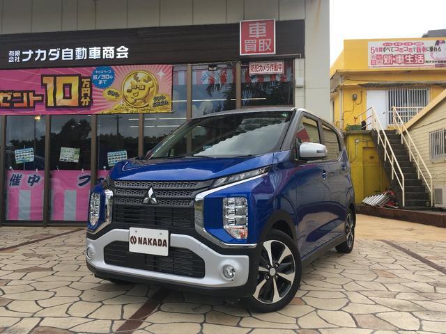 沖縄の中古車 三菱 eKクロス 車両価格 152万円 リ済別 2020(令和2)年 20km ライトニングブルーマイカII