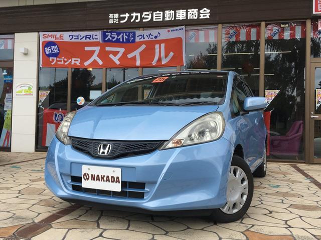 沖縄の中古車 ホンダ フィット 車両価格 44万円 リ済込 2013(平成25)年 7.4万km ライトブルー