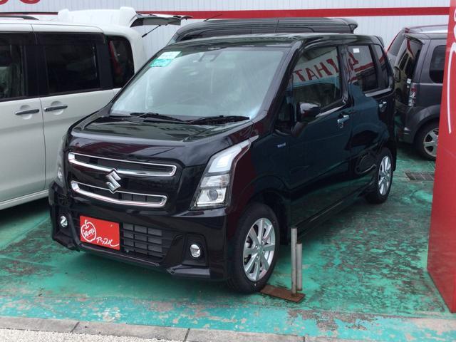 沖縄県宜野湾市の中古車ならワゴンRスティングレー ハイブリッドX 届出済未使用車 レーダーブレーキサポート