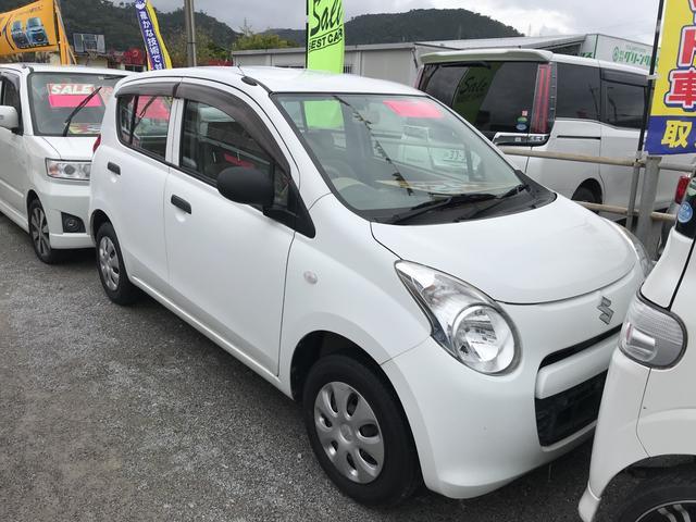 沖縄の中古車 スズキ アルト 車両価格 24万円 リ済込 平成24年 8.3万km ホワイト