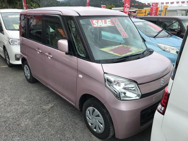 沖縄の中古車 スズキ スペーシア 車両価格 61万円 リ済込 平成25年 3.6万km ピンク