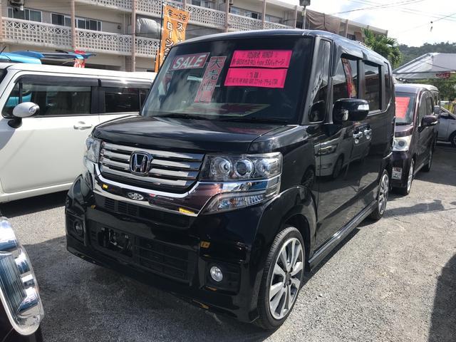 沖縄の中古車 ホンダ N-BOXカスタム 車両価格 ASK リ済込 2014(平成26)年 6.9万km ブラック