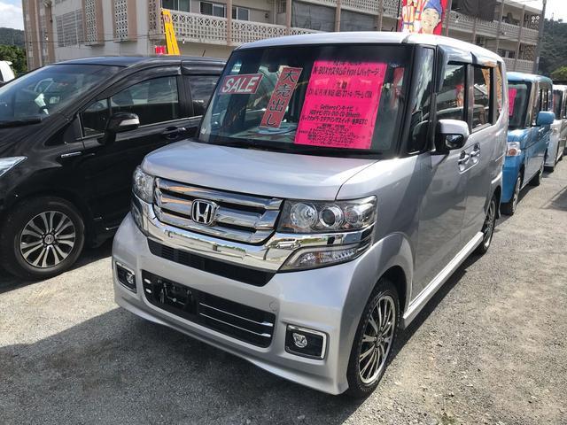 沖縄の中古車 ホンダ N-BOXカスタム 車両価格 98万円 リ済込 2015(平成27)年 6.9万km シルバー