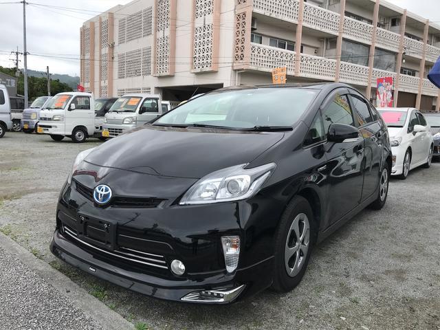 沖縄の中古車 トヨタ プリウス 車両価格 ASK リ済込 2013(平成25)年 6.6万km ブラック