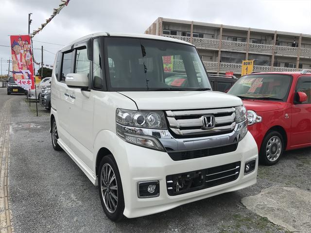 沖縄の中古車 ホンダ N-BOXカスタム 車両価格 ASK リ済込 2015(平成27)年 7.3万km パールホワイト