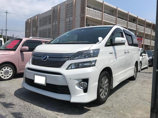 沖縄の中古車 トヨタ ヴェルファイアハイブリッド 車両価格 ASK リ済込 2014(平成26)年 10.8万km パールホワイト