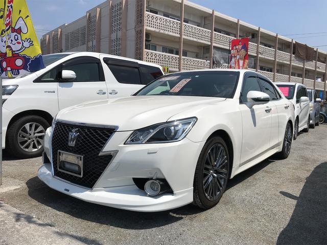 沖縄の中古車 トヨタ クラウン 車両価格 ASK リ済込 2013(平成25)年 16.5万km パールホワイト