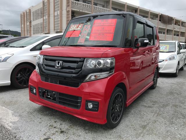 沖縄の中古車 ホンダ N-BOXカスタム 車両価格 ASK リ済込 2017(平成29)年 3.6万km レッド