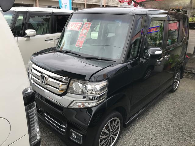 沖縄の中古車 ホンダ N-BOXカスタム 車両価格 ASK リ済込 2015(平成27)年 6.2万km ブラック