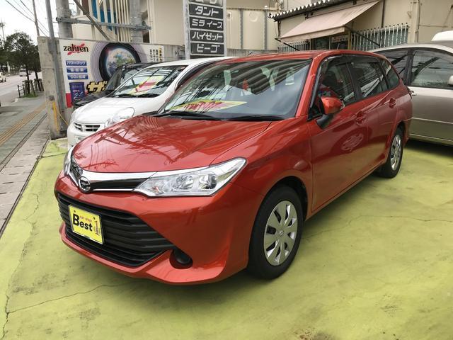 沖縄の中古車 トヨタ カローラフィールダー 車両価格 123万円 リ済込 平成28年 4.4万km オレンジ