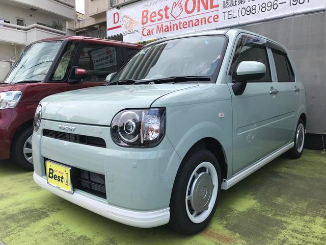 沖縄の中古車 ダイハツ ミラトコット 車両価格 135万円 リ済込 2018(平成30)年 0.2万km Lグリーン