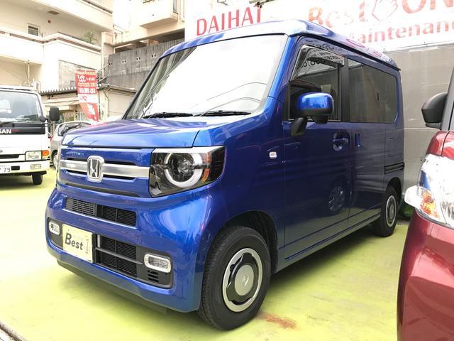 沖縄の中古車 ホンダ N-VAN+スタイル 車両価格 163万円 リ済込 2018(平成30)年 179km ブルーM