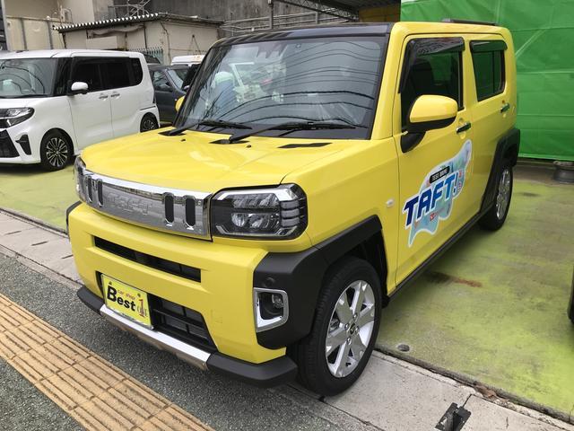 沖縄の中古車 ダイハツ タフト 車両価格 160.6万円 リ済込 2020(令和2)年 7km レモンスカッシュクリスタルメタリック