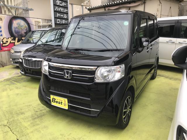 沖縄の中古車 ホンダ N-BOX 車両価格 95万円 リ済込 2016(平成28)年 8.1万km ブラック