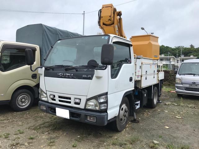 沖縄県の中古車ならエルフトラック バケット 8m 高所作業車