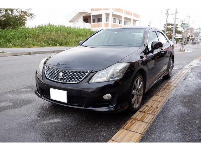 沖縄の中古車 トヨタ クラウン 車両価格 63万円 リ済込 2008(平成20)年 16.9万km ブラック