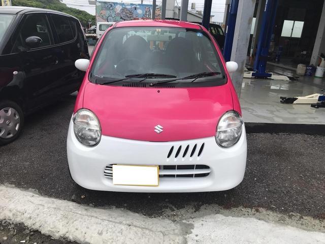 沖縄の中古車 スズキ ツイン 車両価格 32万円 リ済込 平成17年 メータ交換12.6万km ピンクII