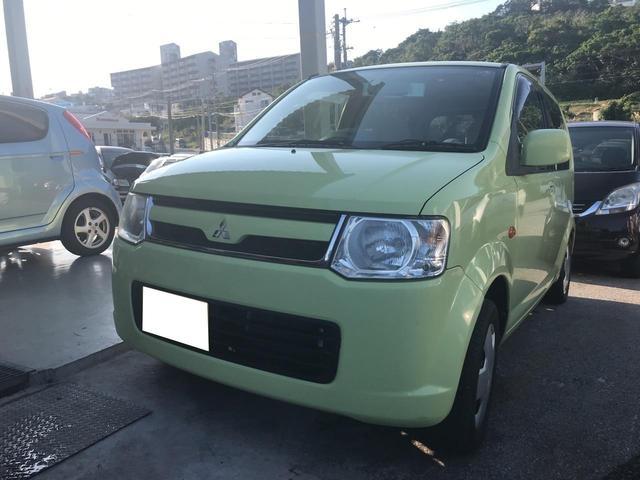 沖縄の中古車 三菱 eKワゴン 車両価格 19万円 リ済込 平成19年 9.9万km Lグリーン